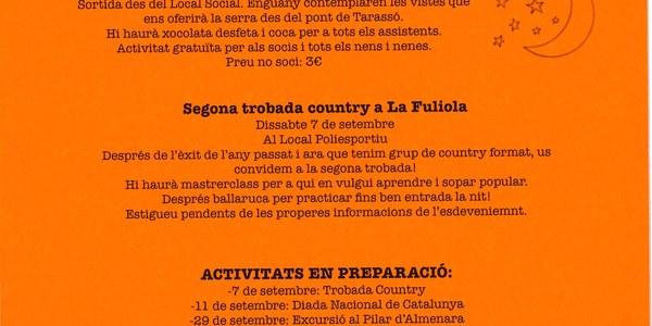 SEGONA TROBADA COUNTRY  (ATENEU POPULAR DE LA FULIOLA)